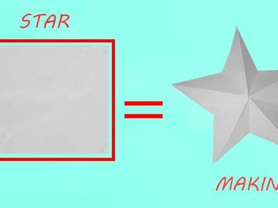 How to make a perfect paper star with 1 cut and foldings