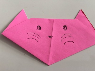 How to Make an Easy Origami Cat Face | 300x400