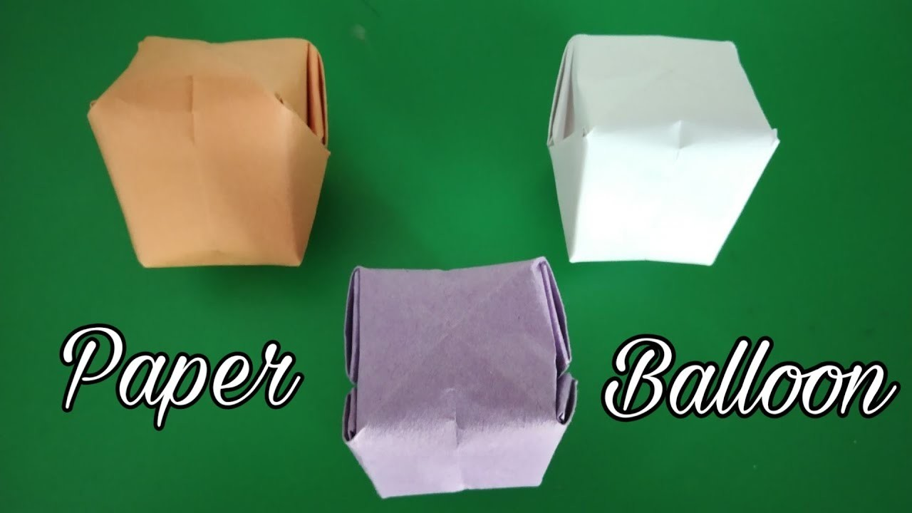 how to make paper balloon water bomb origami make easy
