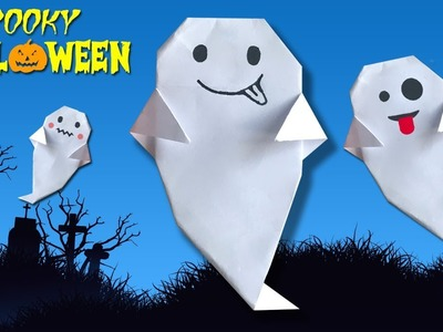 Make Paper Ghost for Halloween (2018) ???????? Easy DIY Paper Crafts [4K]