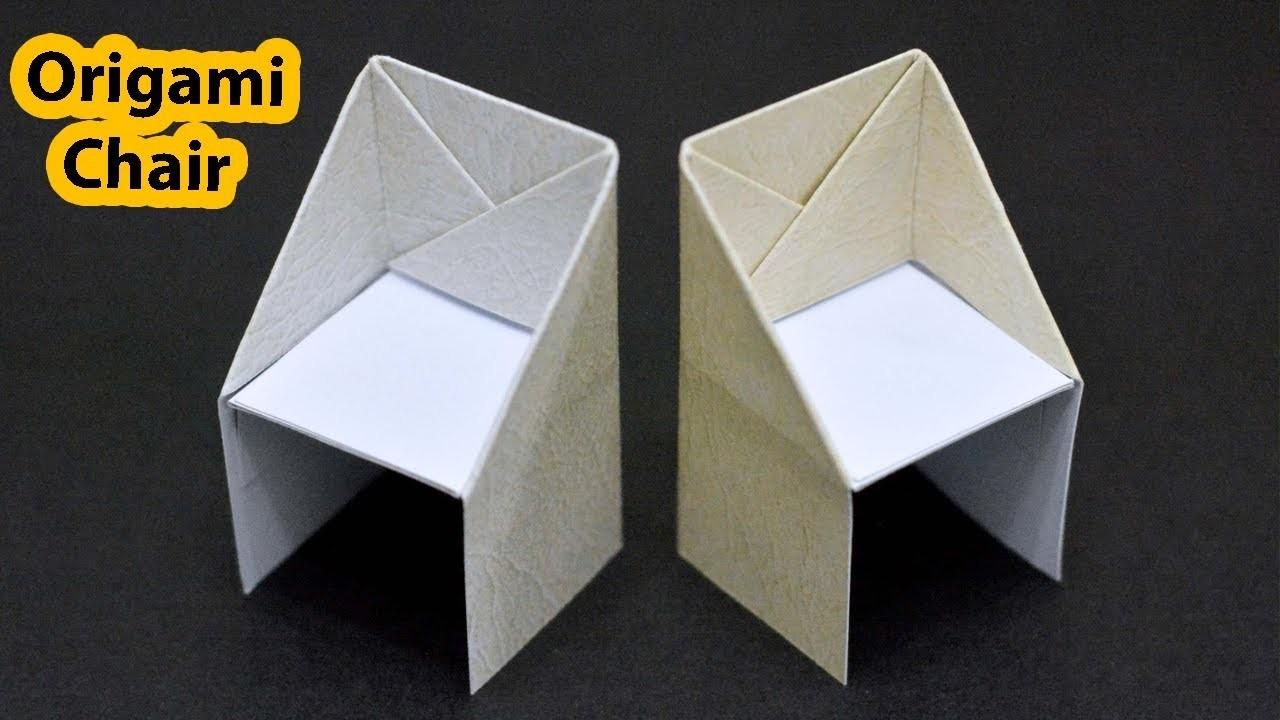 Paper Chair Folding Instructions How To Make An Origami