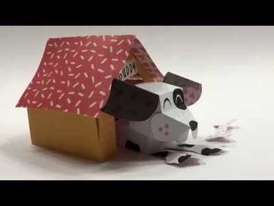 Paper Crafts - Paper Pet - Buddy the Good Dog