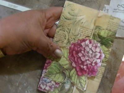 A Tutorial on Embellishing an envelope using napkin decoupage Part 1