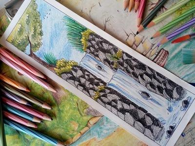 Art Art It Is Wow So Pretty Beautiful Double Waterfall Easy