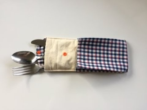 Cutlery Pouch With Napkin Pocket DIY