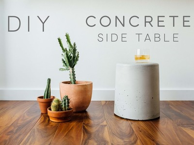 DIY Concrete Side Table | Easy | How to Make