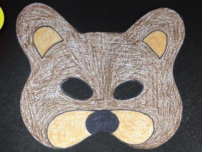 Draw TeddyBear Mask on Paper for KIDS - Easy Teddy Bear Mask Art - Art Konna -