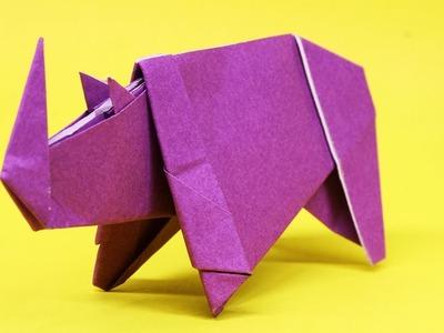Easy Origami Rhino - How to Make Rhino Step by Step