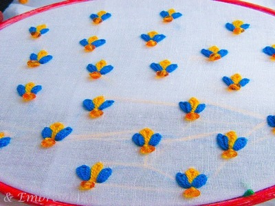 Hand embroidery  Hand embroidery all over design by crafts & embroidery