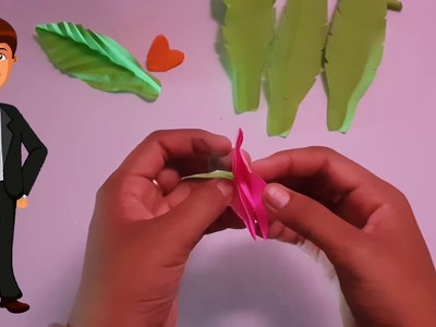 How to do flower paper by hand is Very Cute Flower