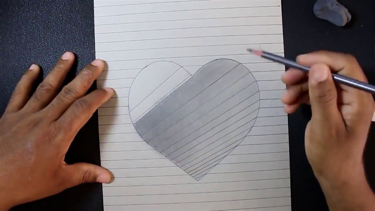 How To Draw A 3d Hole Heart Shape Best Of Youtuber Vikas