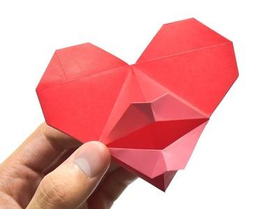 How To Fold Kissing Heart Origami (Instruction) 情「心」一吻 摺紙教學 (Kade Chan)