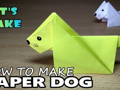 How To Make a Paper Dog, Origami