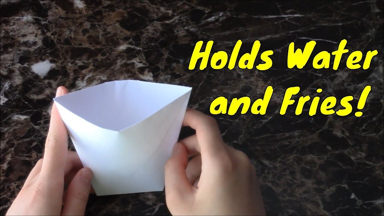 how to make an origami cup so easy