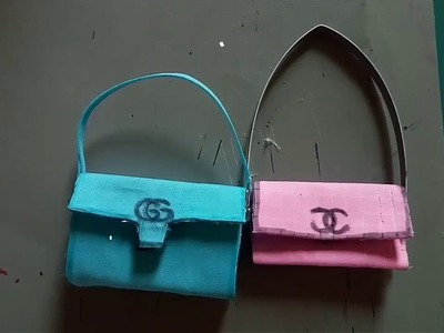 How to make gucci bag for doll. DIY. very easy