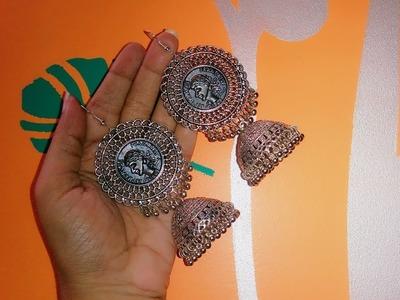 How to make jhumkaa earrings at home || Pujaa Tutorial ||????