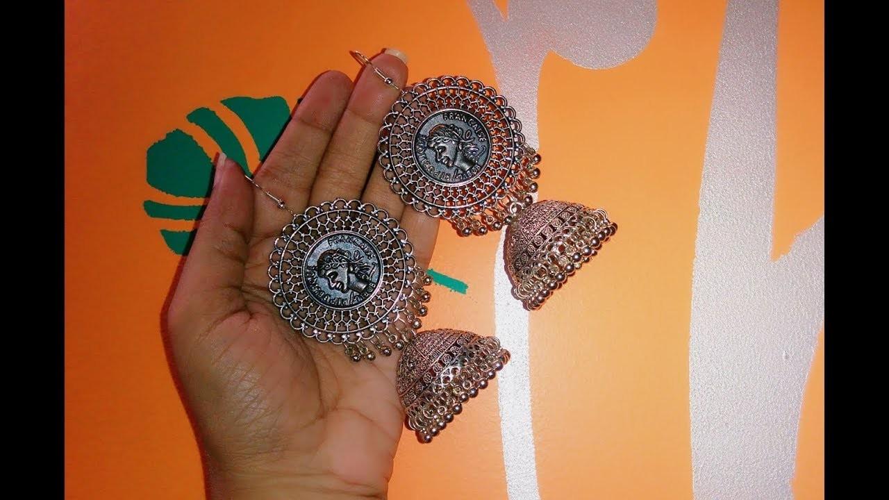 How to make jhumkaa earrings at home    Pujaa Tutorial   ????