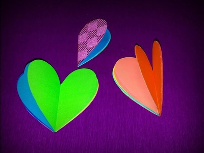 Make mini heart shaped notebooks easy step by step || Valentine's Notebooks || Art Of Learning ||
