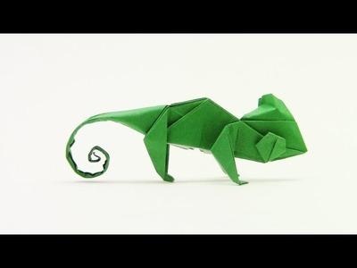 Origami Chameleon by Quentin Trollip - Yakomoga Origami tutorial