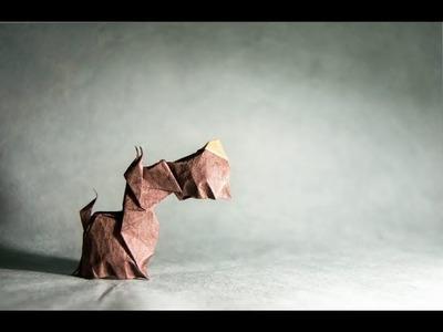 Origami Scottish Terrier by Hoang Tien Quyet