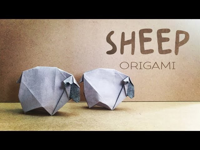ORIGAMI TUTORIAL - How to make an Origami Sheep