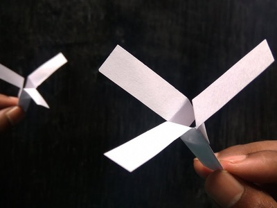 Paper Helicopter - How To Make Flying Paper Helicopter with 3 blades
