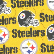 Pittsburgh Steelers Large twin Size Quilt Featuring liceensed Fabric