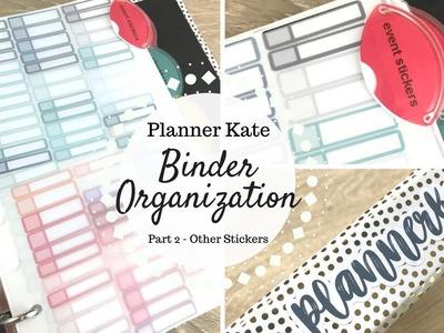 Planner Kate Sticker Binder Organization | Part 2 - Other Stickers |