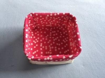 Reversible Fabric Basket DIY