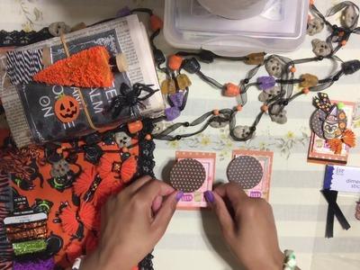 #3.Halloween ????Craft Series 2018 -  Creepy Polaroid Embellishments