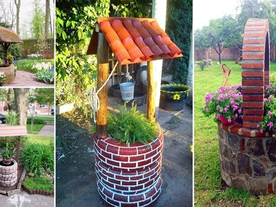 50+ Easy DIY Garden Wishing Wells You Can Make Today | Garden ideas