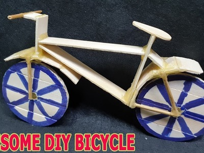 Awesome DIY BICYCLE - How to make bike Using Popsicle sticks