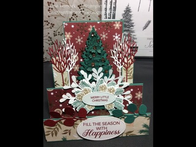 Christmas Crafts - Easy stepper card tutorial - Stampin Up Winter Woods