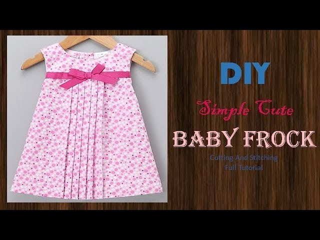 DIY Cute Pleated Baby Frock For 1-2 Year baby Girl Full Tutorial
