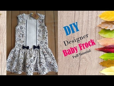 Diy Designer Baby Frock For 1 to 2 year baby girl  Cutting And Stitching Full Tutorial