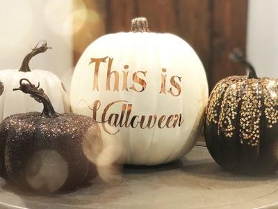 DIY Halloween Pumpkins With the Cricut