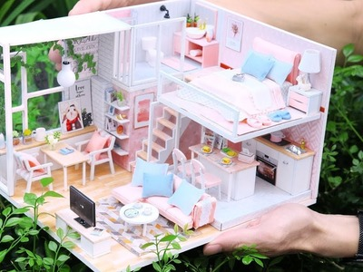DIY Miniature Dollhouse Kit || Tranquil Life ( With Full Furniture & Light )
