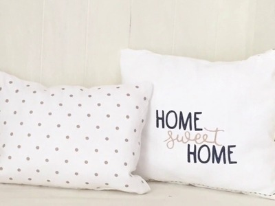 DIY NO SEW PILLOWS with Tea Towels from the Target Dollar Spot
