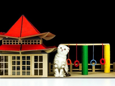 DIY Сhinese House for a Little Kitten