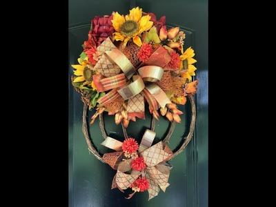 Easy Fall Wreath - DIY Pumpkin Wreath