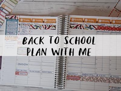 FIRST WEEK OF SCHOOL PLAN WITH ME   ERIN CONDREN HOURLY PLANNER