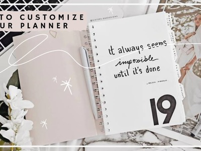HOW TO CUSTOMIZE YOUR PLANNER [5 DIYS] + how i plan