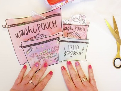 How to Make a Unicorn Planner Pouch from a Printable!