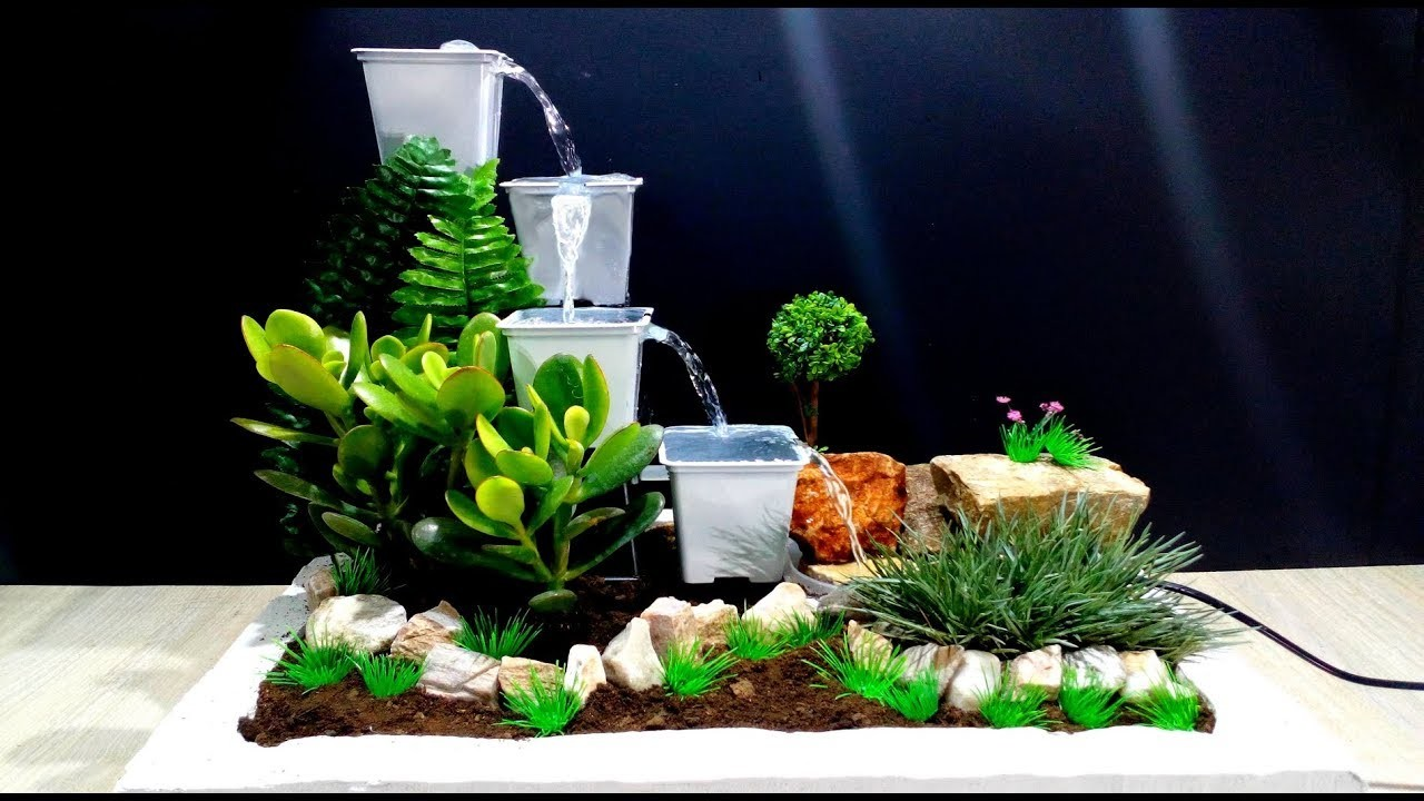 How to make Fountain using Plastic Pots very easy. DIY