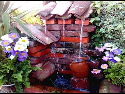 How to make Outdoor Fountain with old Bricks. DIY