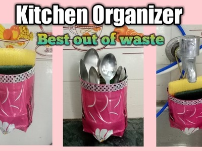 Kitchen Organizer from waste material || Best out of waste
