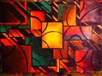 Learn To Paint Easy Modern Cubism Abstract Art | Pastel Colors