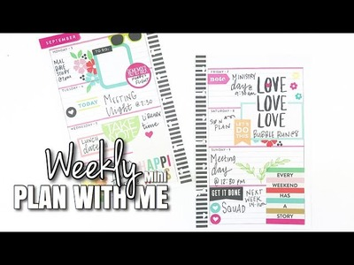 Mini Happy Planner Plan With Me! Talk Through   Sept 3rd - 9th   At Home With Quita