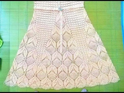 MÓC VÁY XINH MẪU 1 P5 - HOW TO CROCHET A BEAUTIFUL DRESS 1 P5