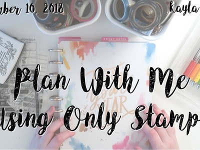 PLAN WITH ME in My Classic Happy Planner ~ Using Only Stamps!